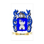 Mertel Sticker (Rectangle 50 pk)