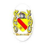 Merrill Oval Car Magnet