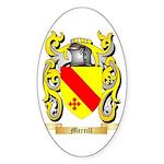 Merrill Sticker (Oval 50 pk)