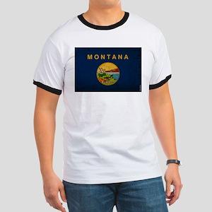 Montana State Flag VINTAGE Ringer T