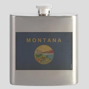 Montana State Flag VINTAGE Flask