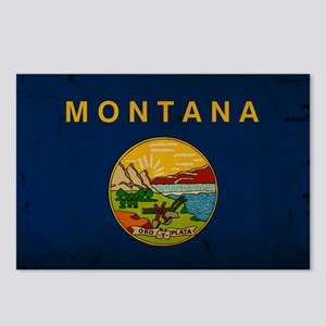 Montana State Flag VINTAG Postcards (Package of 8)