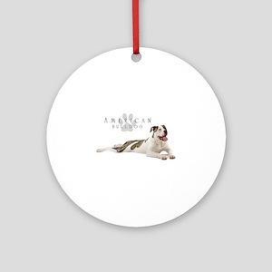 American Bulldog Round Ornament