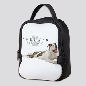 American Bulldog Neoprene Lunch Bag