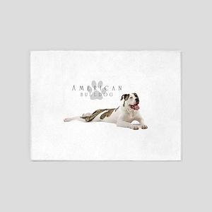 American Bulldog 5'x7'Area Rug
