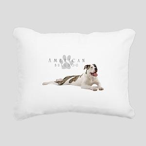 American Bulldog Rectangular Canvas Pillow