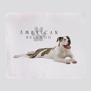 American Bulldog Throw Blanket