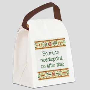 So Much Needlepoint Canvas Lunch Bag