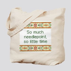 So Much Needlepoint Tote Bag