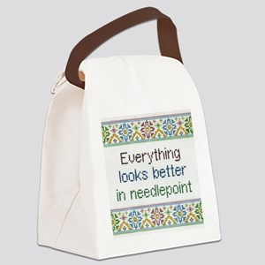 Everything Looks Better Canvas Lunch Bag