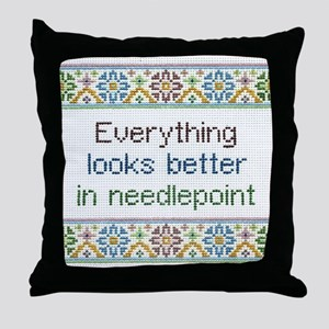 Everything Looks Better Throw Pillow