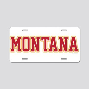 Montana Jersey Red Aluminum License Plate