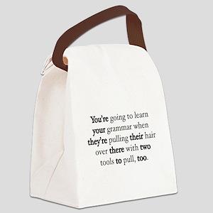 Correct Grammar Canvas Lunch Bag