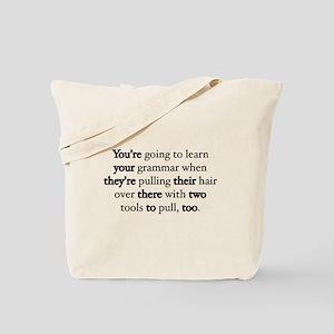 Correct Grammar Tote Bag