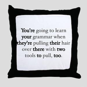 Correct Grammar Throw Pillow