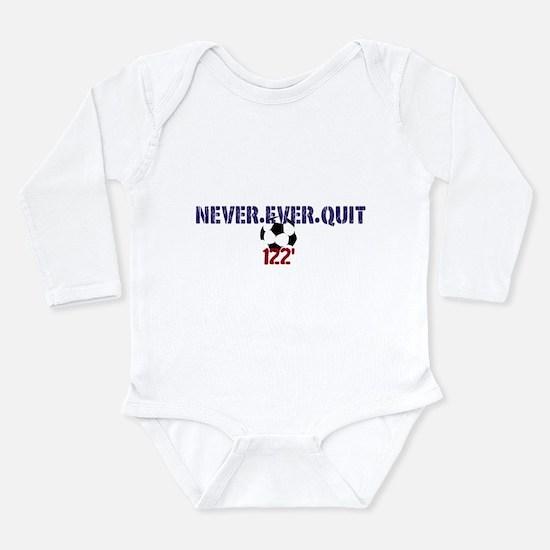 Cute World soccer Long Sleeve Infant Bodysuit