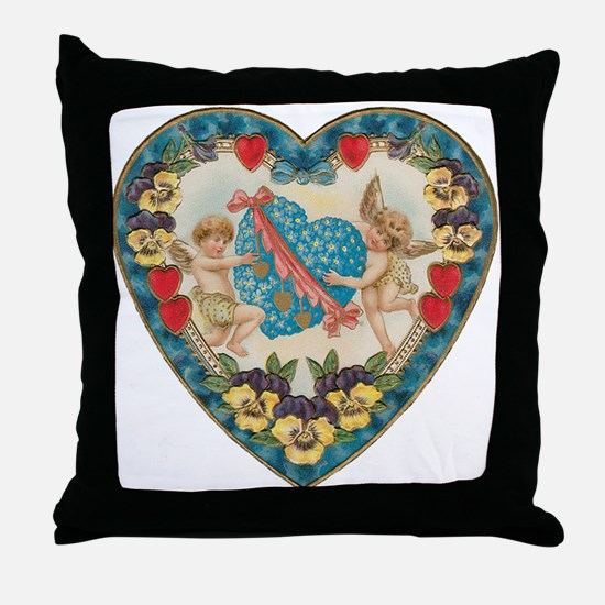 Vintage Valentine's Day Throw Pillow