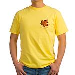 Canada Maple Leaf Souvenir Yellow T-Shirt