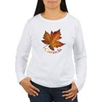 Canada Leaf Souvenir Womens Long Sleeve T-Shirt