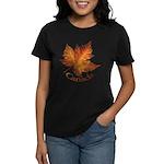 Canada Maple Leaf Souvenir Women's Dark T-Shirt