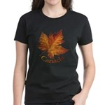 Canada Maple Leaf Souvenir Women's Dark T-Shirt