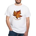 Canada Maple Leaf Souvenir White T-Shirt