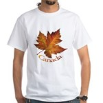 Canada Maple Leaf Souvenir White T-Shirt