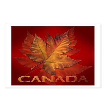 Canada Maple Leaf Souvenir Postcards (Package of 8