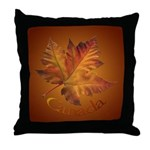 Canada Maple Leaf Souvenir Throw Pillow