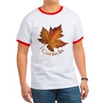 Canada Maple Leaf Souvenir Ringer T