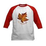 Canada Maple Leaf Souvenir Kids Baseball Jersey