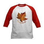 Canada Maple Leaf Souvenir Kids Baseball Jersey