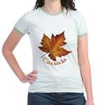 Canada Maple Leaf Souvenir Jr. Ringer T-Shirt