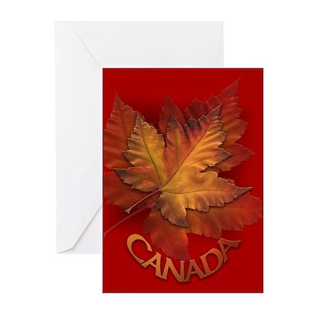 Canada Maple Leaf Souvenir Greeting Cards Pk Of 20