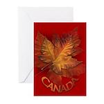 Canada Maple Leaf Souvenir Greeting Cards 10 Pk