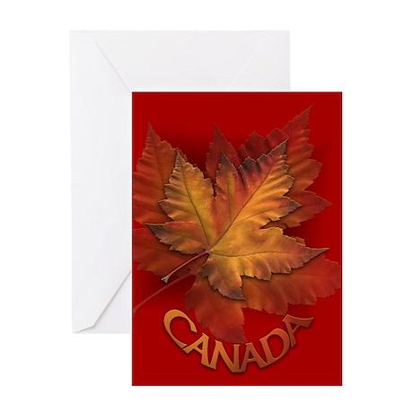 Canada Maple Leaf Souvenir Card Greeting Cards