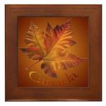 Canada Maple Leaf Souvenir Framed Tile