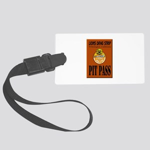 Lions Drag Strip Pit Pass Luggage Tag