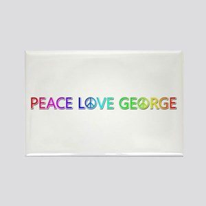 Peace Love George Rectangle Magnet