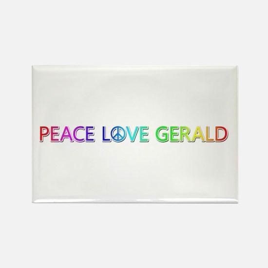 Peace Love Gerald Rectangle Magnet