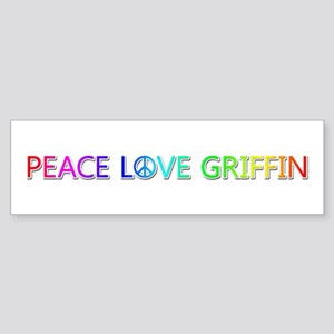 Peace Love Griffin Bumper Sticker
