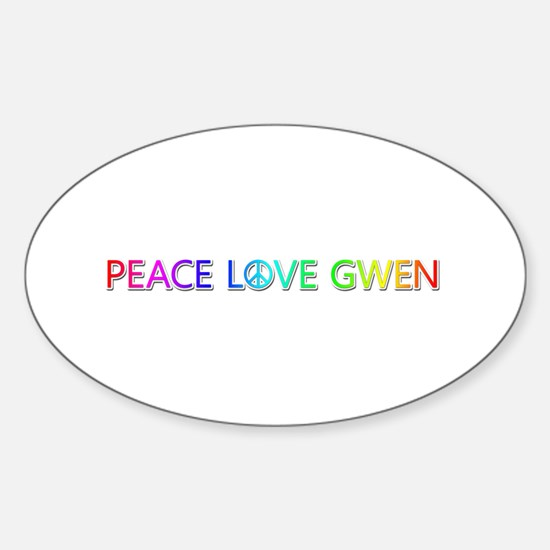 Peace Love Gwen Oval Decal