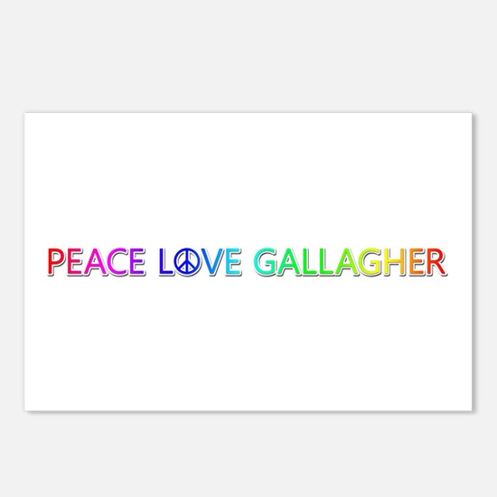 Peace Love Gallagher Postcards 8 Pack