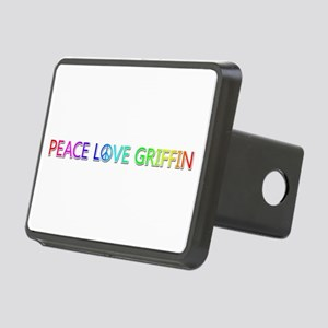 Peace Love Griffin Rectangular Hitch Cover