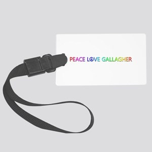 Peace Love Gallagher Large Luggage Tag