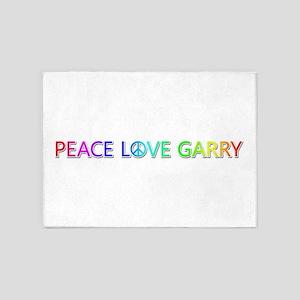 Peace Love Garry 5'x7' Area Rug