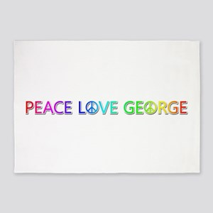 Peace Love George 5'x7' Area Rug