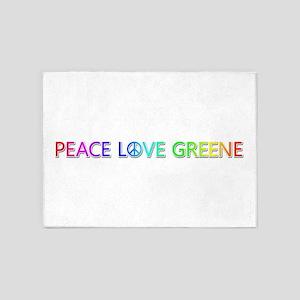Peace Love Greene 5'x7' Area Rug