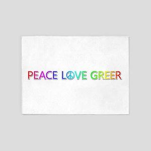 Peace Love Greer 5'x7' Area Rug