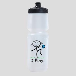 Soccer Girl Blue Sports Bottle